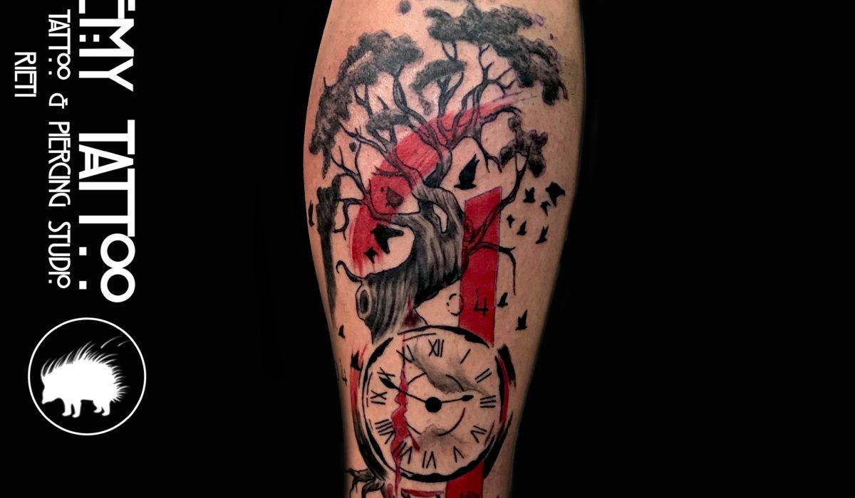 albero orologio trash polka